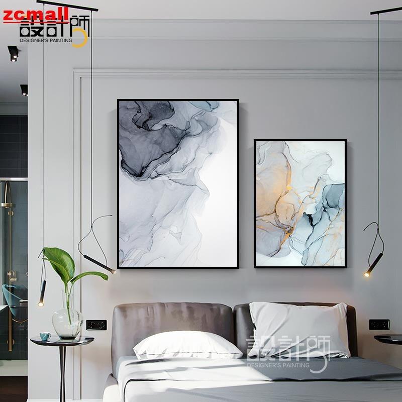 【全館免運】ZCMALL 家居好康  后現代客廳玄關裝飾畫水墨抽象藝術室內掛畫北歐風格走道樓梯壁畫