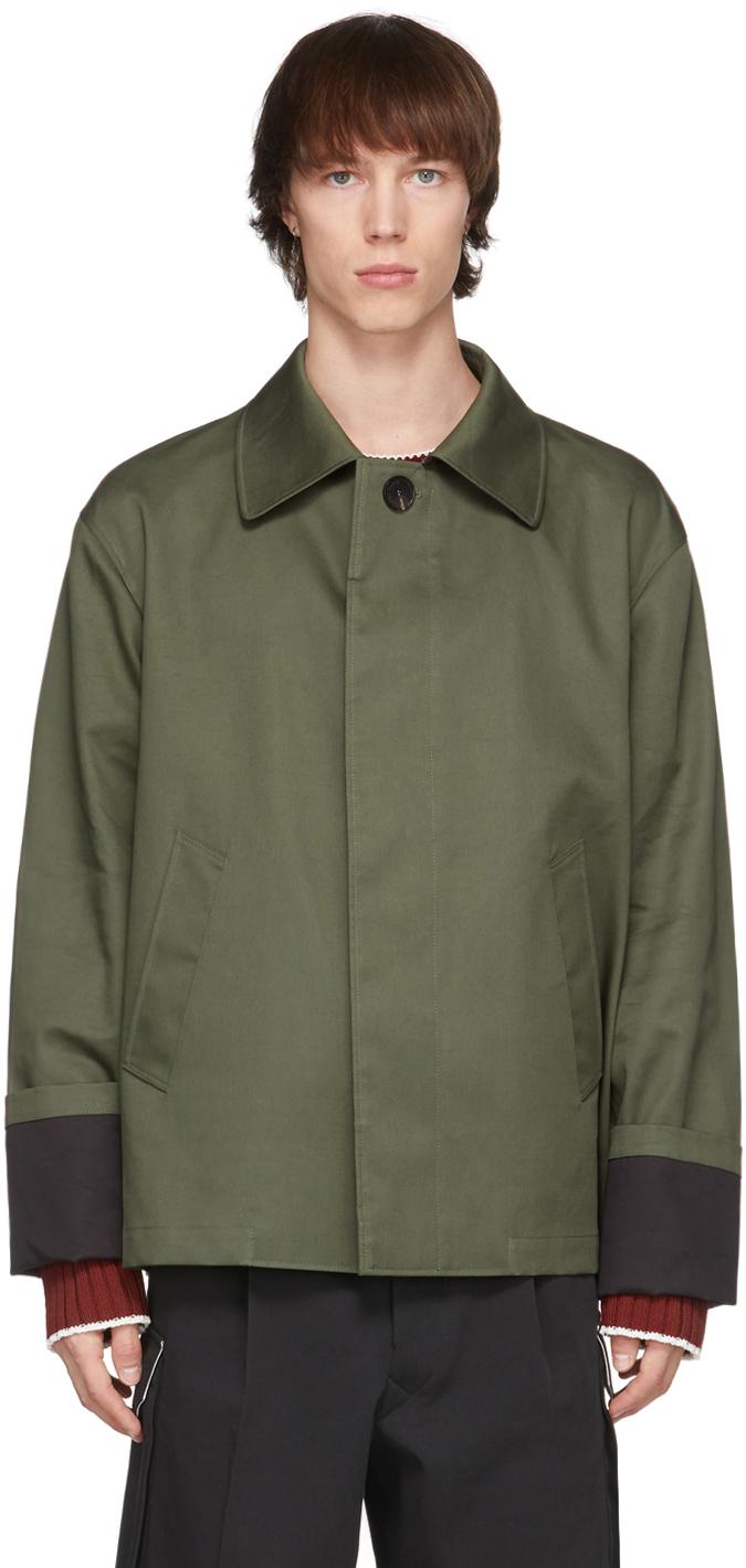 Uniforme 军绿色 Boxy Contrasted Mac 夹克