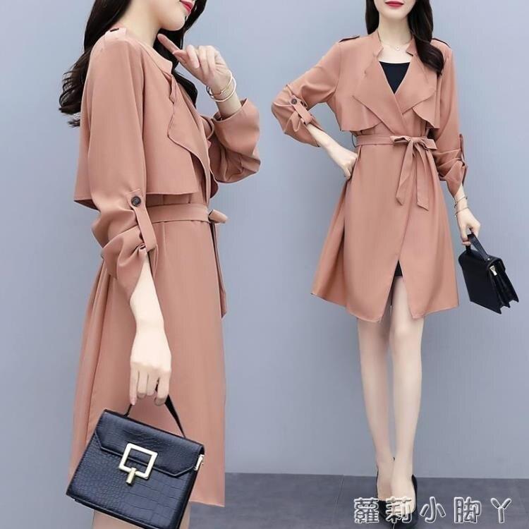 樂天優選 風衣女中長薄款英倫風2020夏春新款韓版氣質百搭春秋時尚流行外套