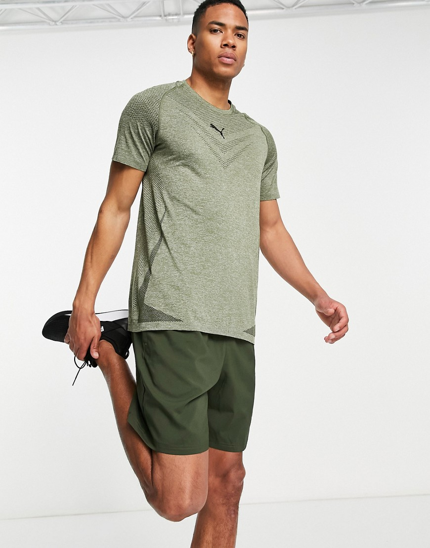 Puma Training Tech t-shirt in khaki-Green