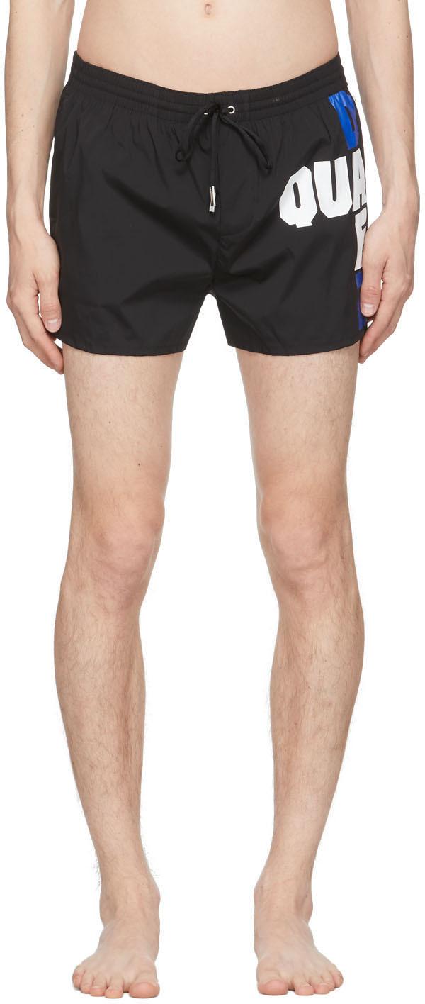 Dsquared2 黑色徽标泳裤