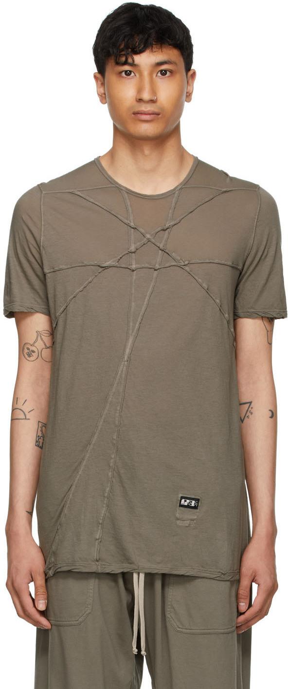 Rick Owens Drkshdw 灰褐色 Level 有机棉 T 恤