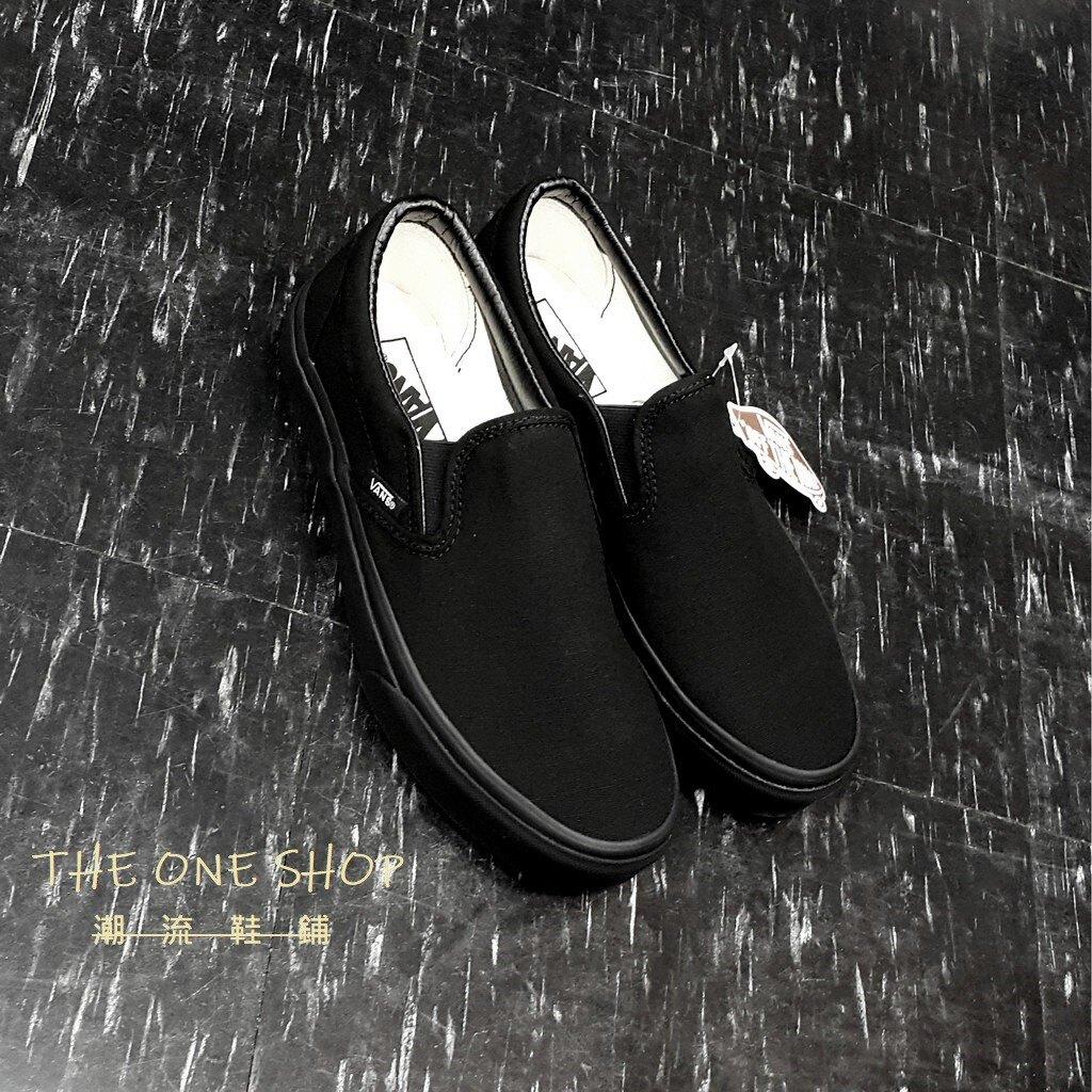 TheOneShop Vans Classic Slip On 懶人鞋 全黑 黑色 帆布 基本款 經典款 板鞋 VN000EYEBKA