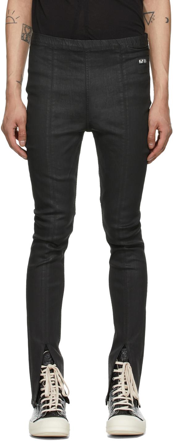 Rick Owens Drkshdw 黑色 Slit Front Legging 牛仔裤