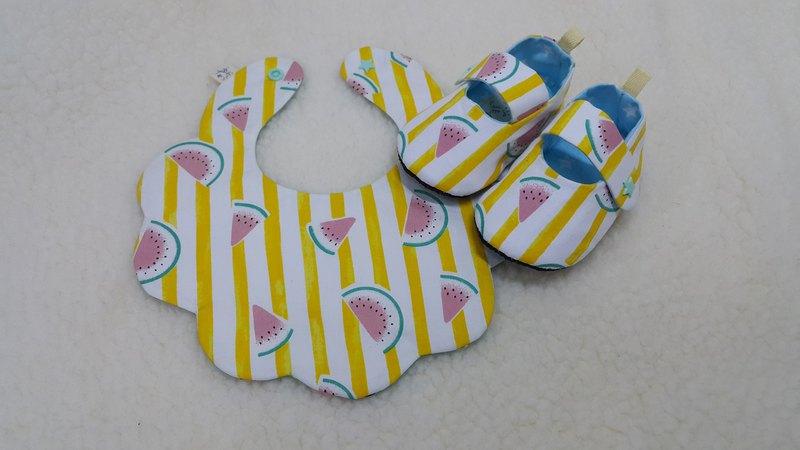 條紋西瓜  寶寶彌月禮盒兩件組