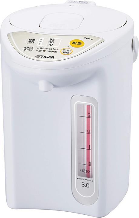 【日本代購】TIGER 虎牌電熱水壺 保溫功能 省電計時器 3L 都市白色 PDR-G300-WU