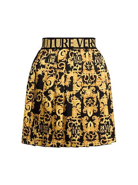 Logo Baroque Mini Skirt