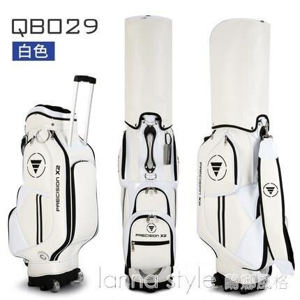 【九折】高爾夫包 男女標準球包 拉桿拖輪包 防水PU球桿包 輕便golf包