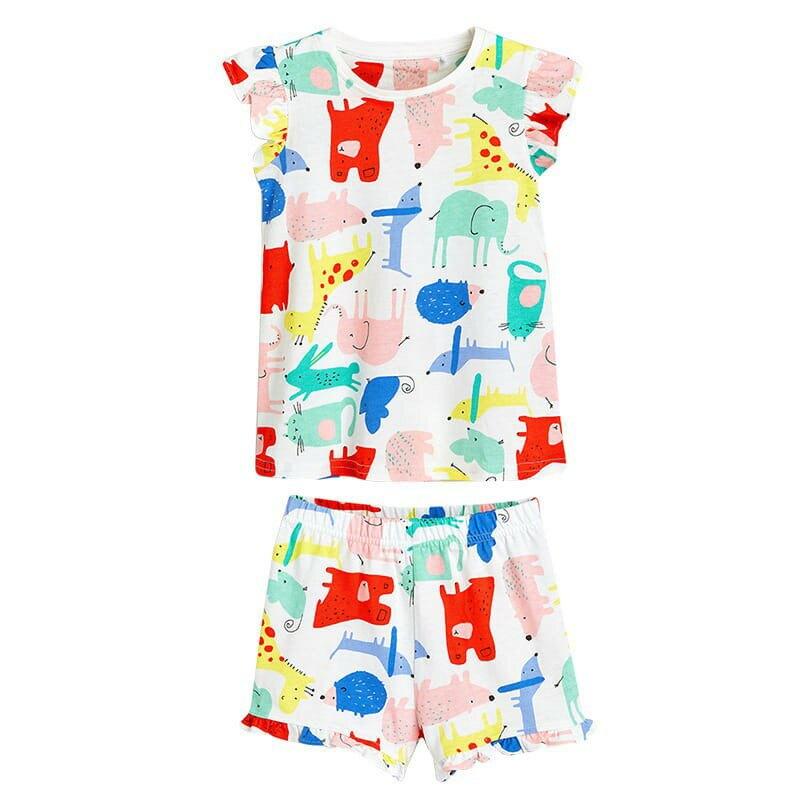 現貨  Little maven 夏季 女童歐美風純棉印花居家套裝 睡衣 居家服 LM-80011