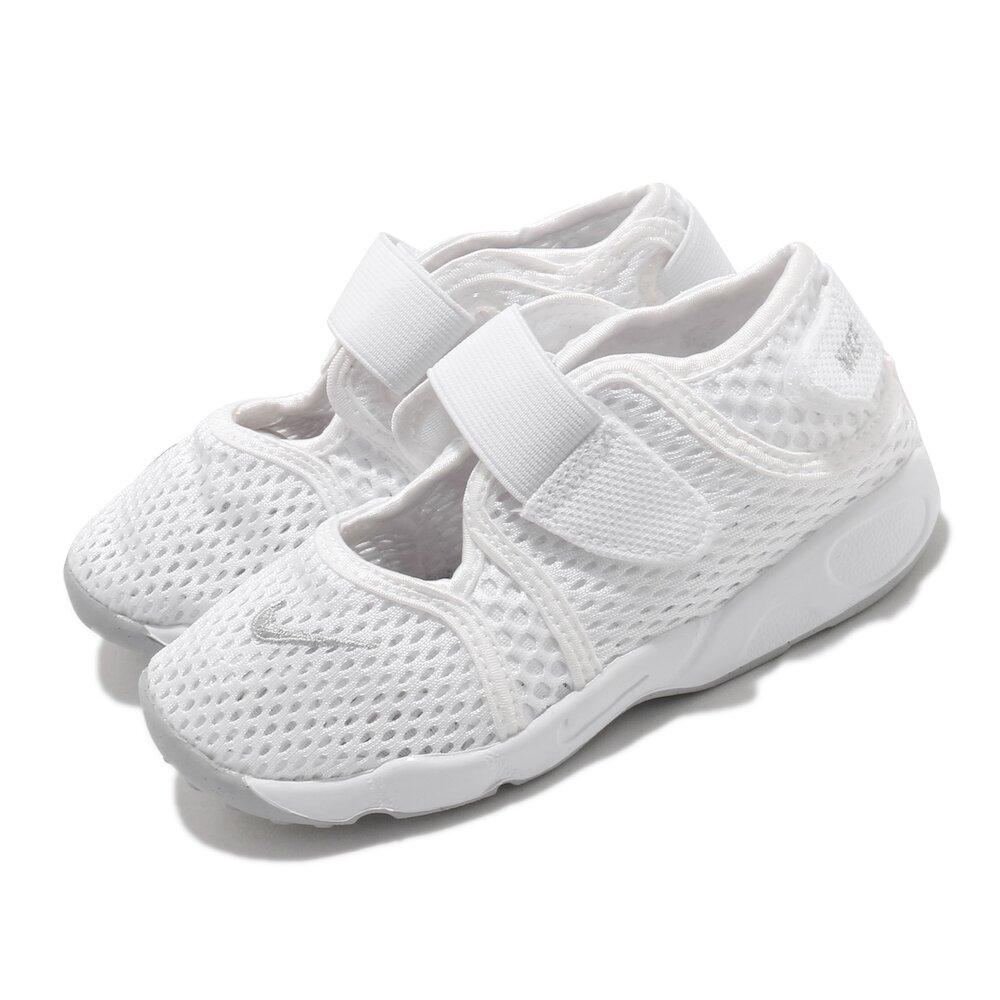 NIKE 休閒鞋 Little Rift TD 運動 童鞋 經典款 忍者鞋 舒適 魔鬼氈 穿搭 小童 白 灰 [317415-111]