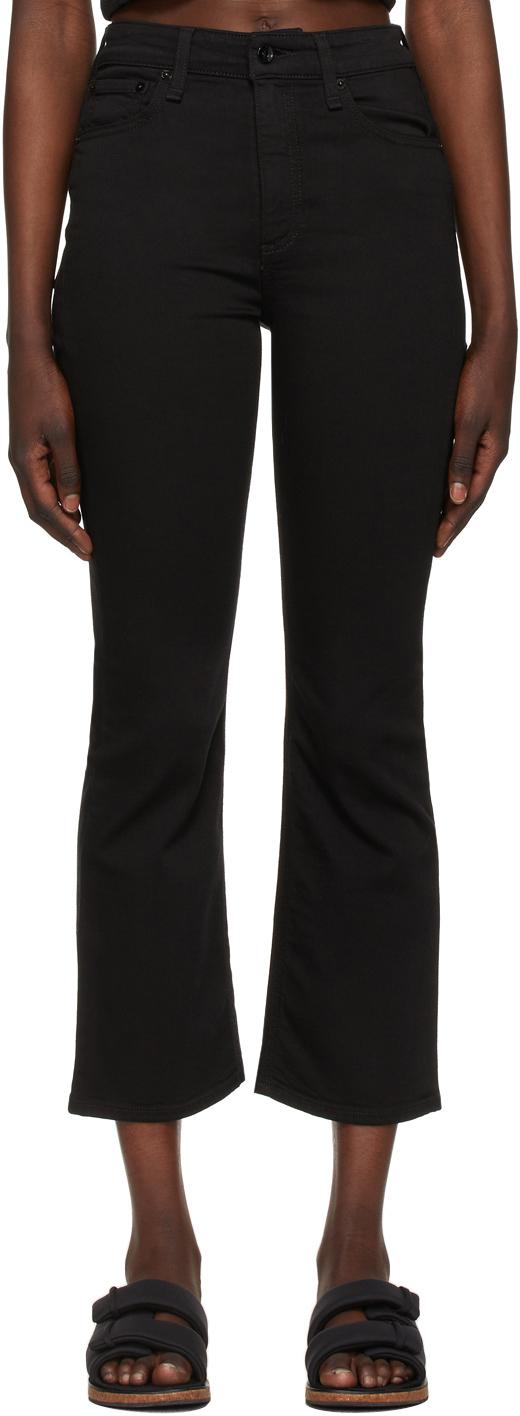 Rag & Bone 黑色 Nina High-Rise Flare 牛仔裤