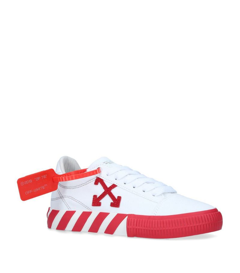 Off-White Canvas Low-Top Vulcanised Sneakers