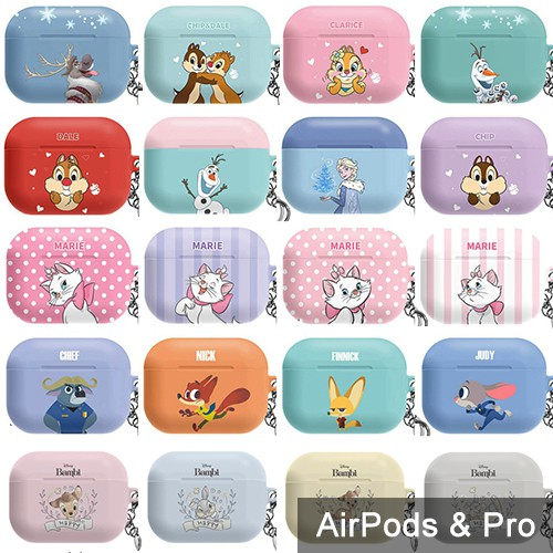 AirPods Pro 保護殼│韓國 迪士尼 奇奇蒂蒂 動物方城市 瑪麗貓 小鹿斑比 冰雪奇緣│硬殼 保護套