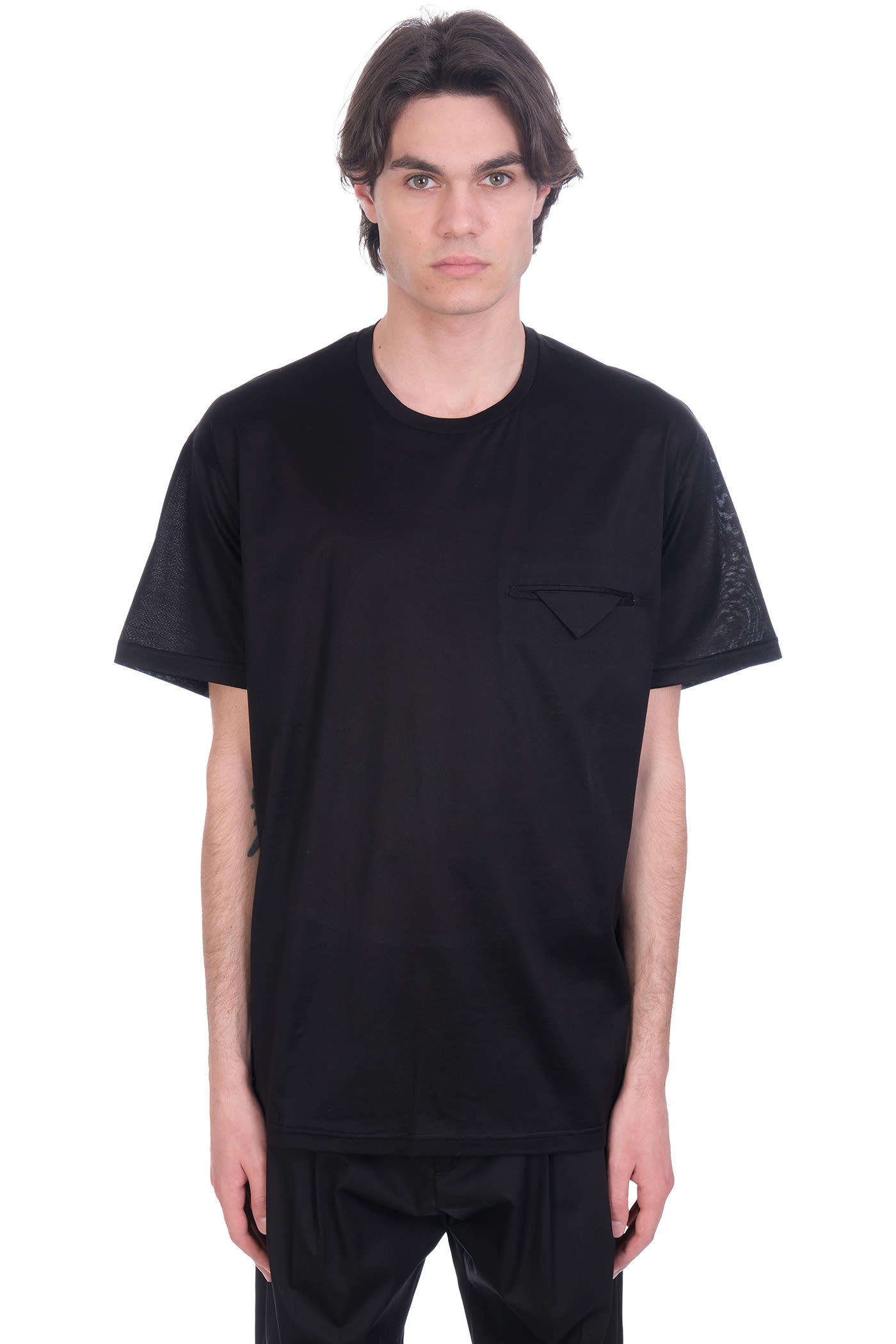 Low Brand T-shirt In Black Cotton