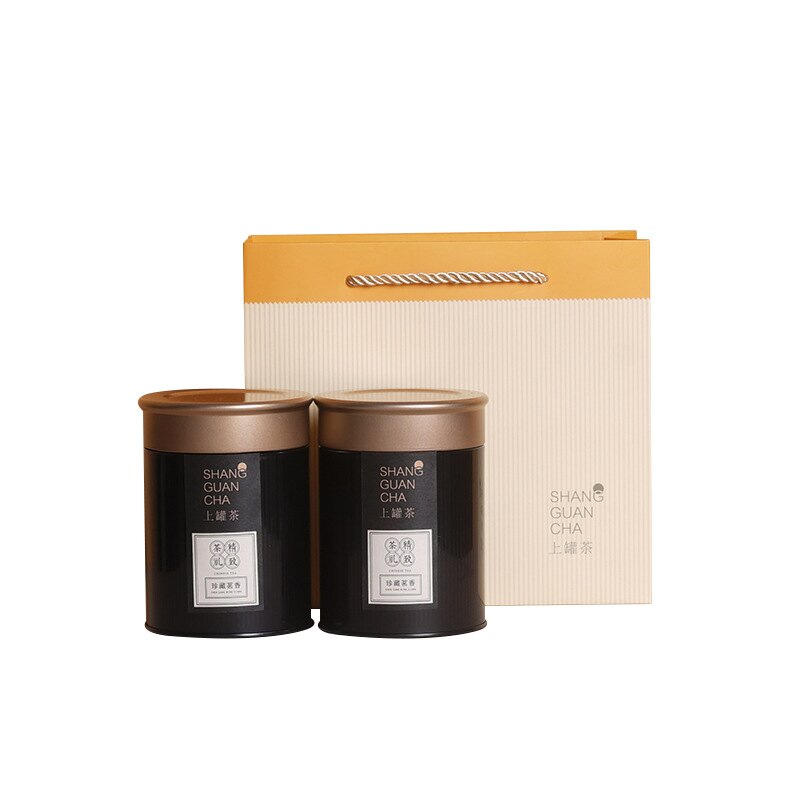 新款二兩半半斤裝茶葉罐鐵罐紅茶綠茶金屬茶葉罐密封茶葉包裝罐