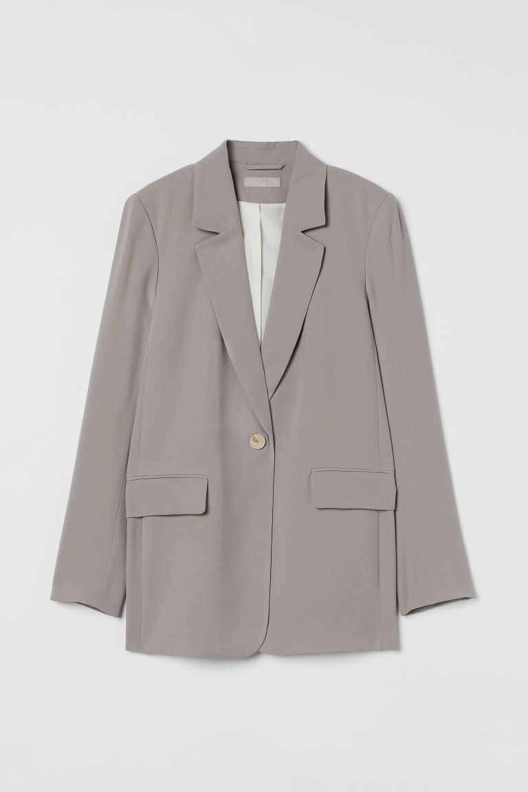 H & M - 單排扣外套 - 褐色
