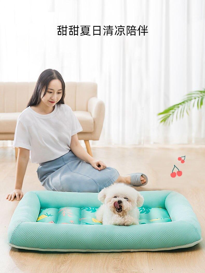 夏季寵物床 狗窩夏天涼窩四季通用涼席窩小型犬貓窩夏季泰迪狗狗墊子寵物用品