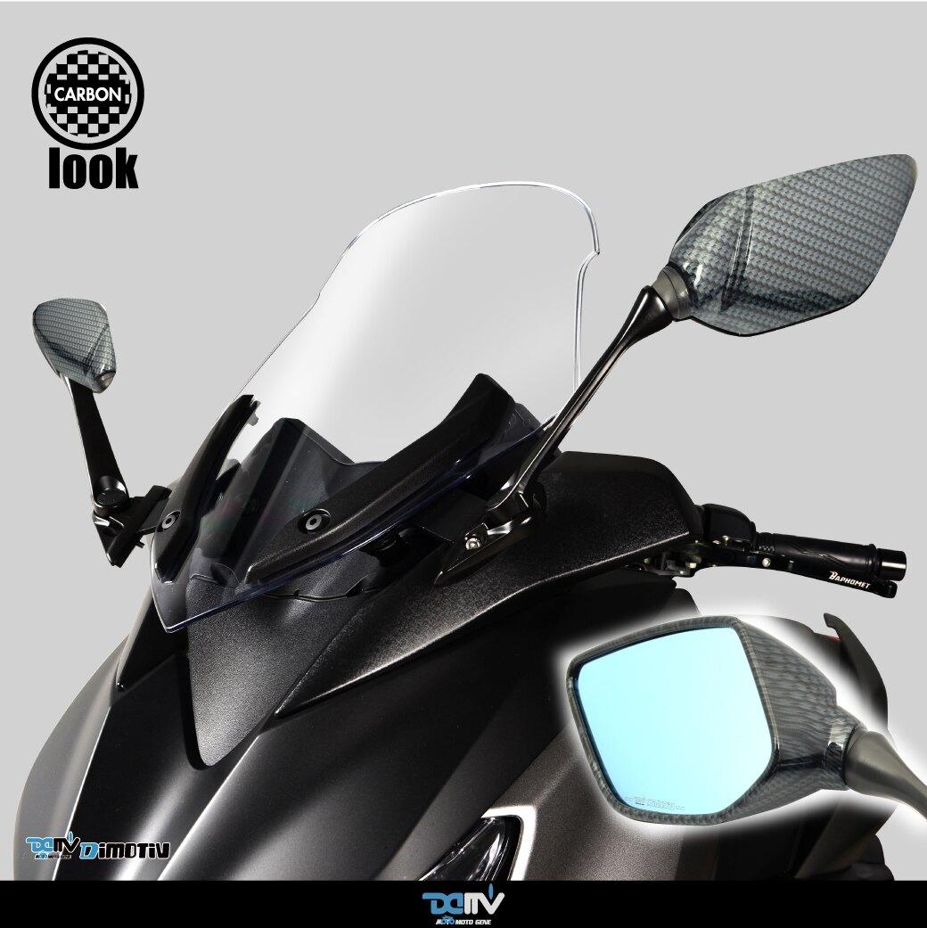 【柏霖】 Dimotiv YAMAHA XMAX 300 R3卡夢藍鏡後視鏡延伸組 Carbon DMV