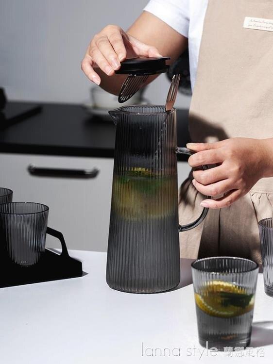 【九折】玻璃冷水壺家用涼水壺 耐高溫茶壺大容量涼水杯套裝杯子