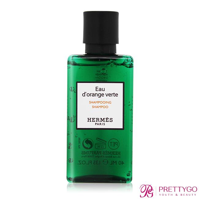 HERMES 愛馬仕 D'Orange Verte 橘綠之泉洗髮精(40ml)-國際航空版【美麗購】
