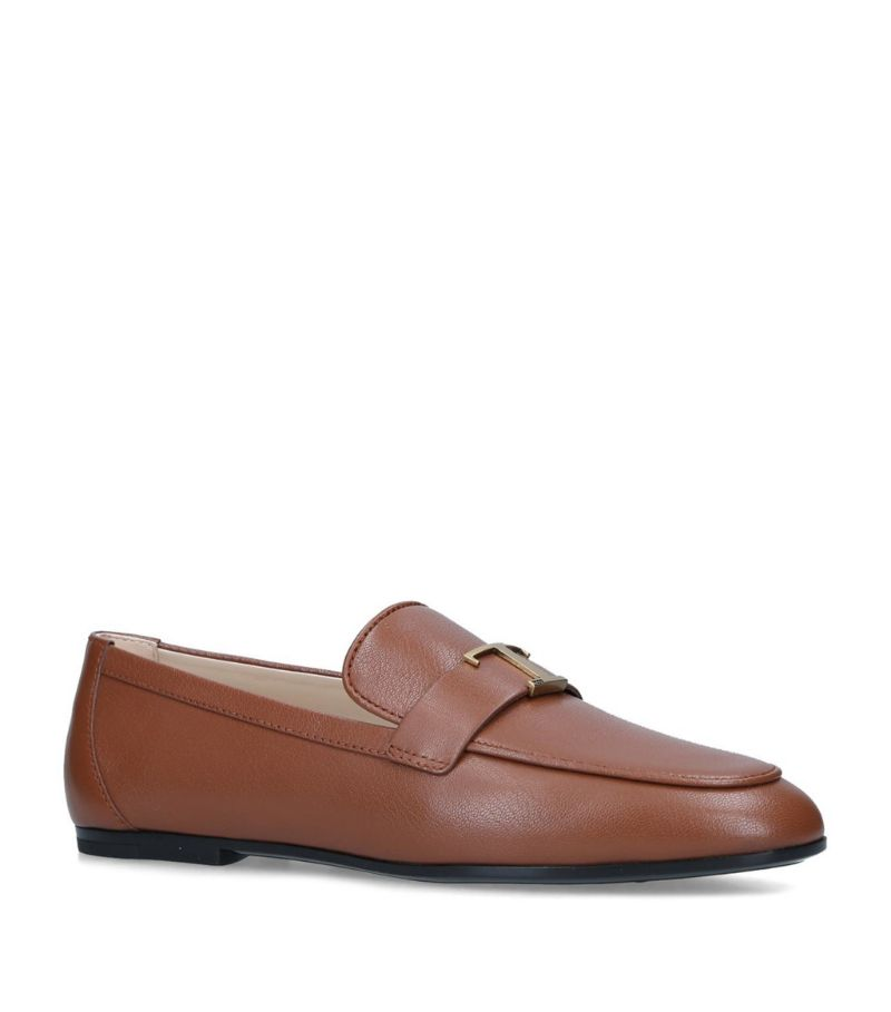 Tod'S Leather T Timeless Loafers