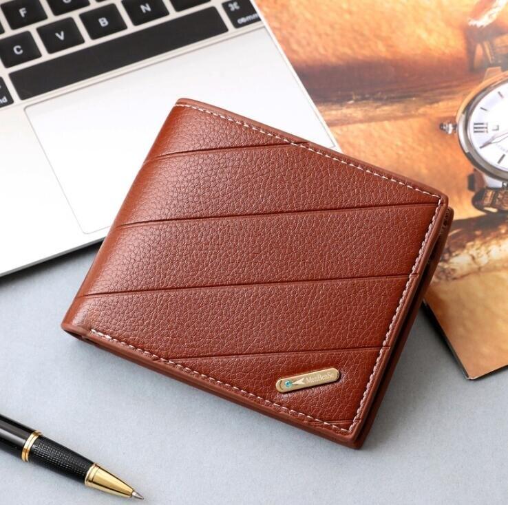 韓版橫款男錢包 壓花潮流皮夾男生卡包商務短夾 男士百搭男款多卡位錢夾 零錢包男士短款錢包