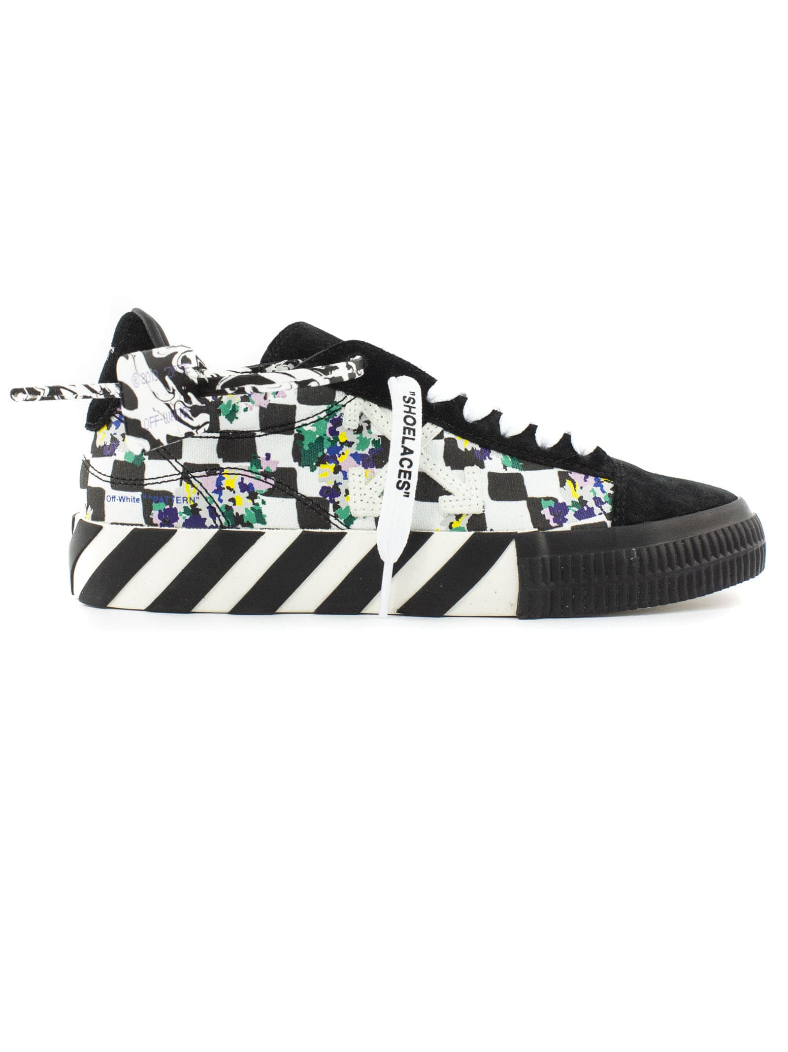 Off-White White And Black Vulcanized Sneakers