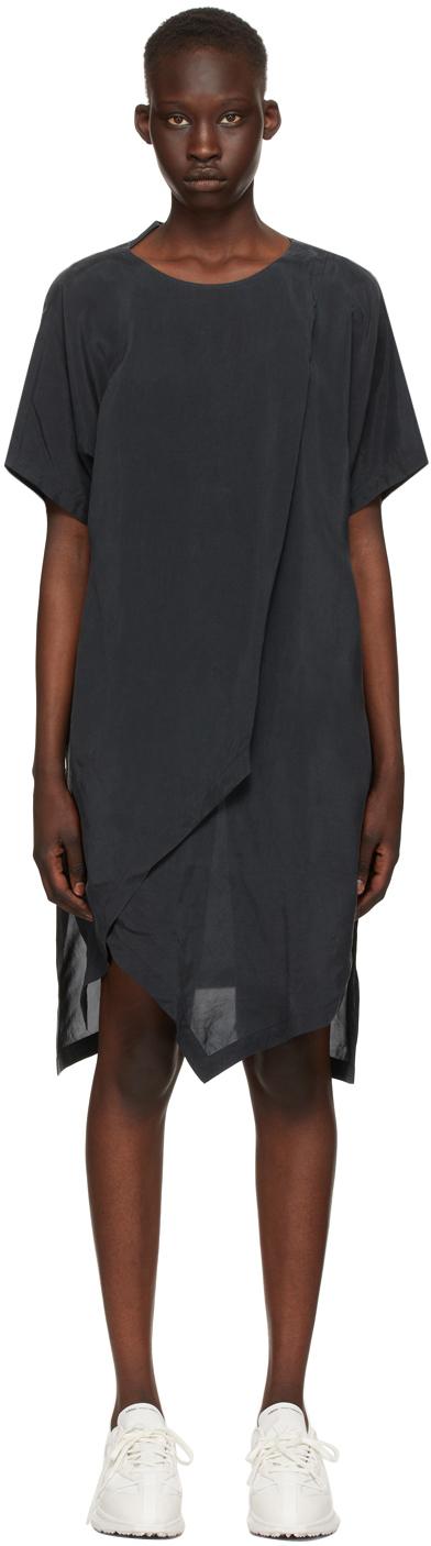 Y-3 黑色 CH3 Sanded T 恤连衣裙