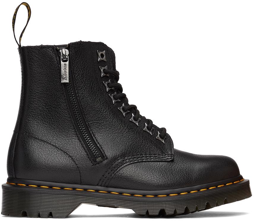 Dr. Martens 黑色 1460 Pascal Zip Leo 踝靴