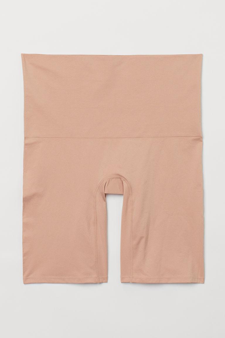 H & M - H & M+ 緊緻塑身短褲 - 米黃色