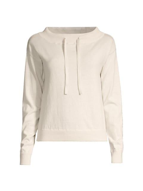 Cotton & Cashmere Funnelneck Sweater