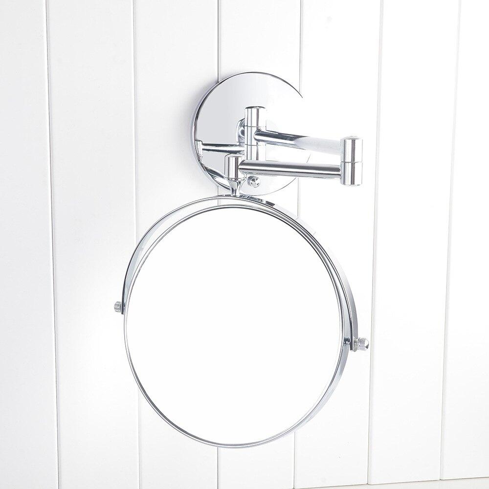 圖勝圖 掛壁雙面鏡子8英寸雙壁伸縮 墻壁化妝鏡 浴室墻上 免釘【艾莎嚴選】
