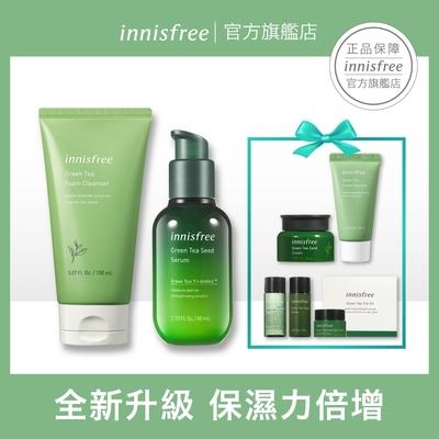 innisfree 綠茶補水基礎保養組(精華+潔顏)