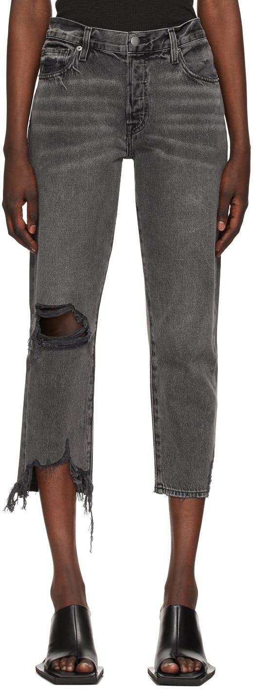 FRAME 灰色 Le Slouch Crop 牛仔裤