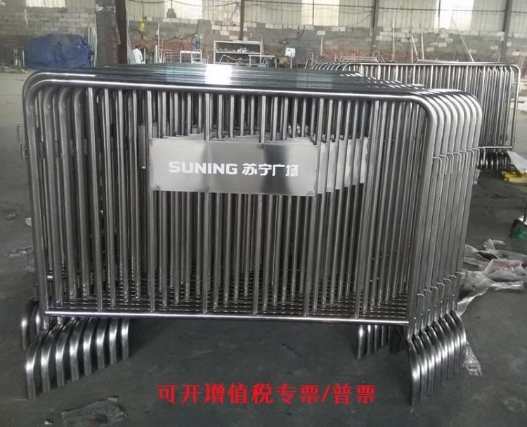 伸縮欄 不銹鋼可移動鐵馬 交通安全活動護欄圍欄不銹鋼地鐵隔離欄定制 星河光年DF