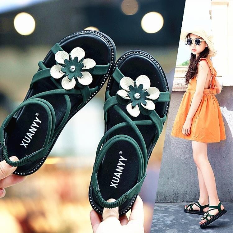 女童涼鞋時尚夏季正韓小學生公主中大童兒童女孩涼鞋
