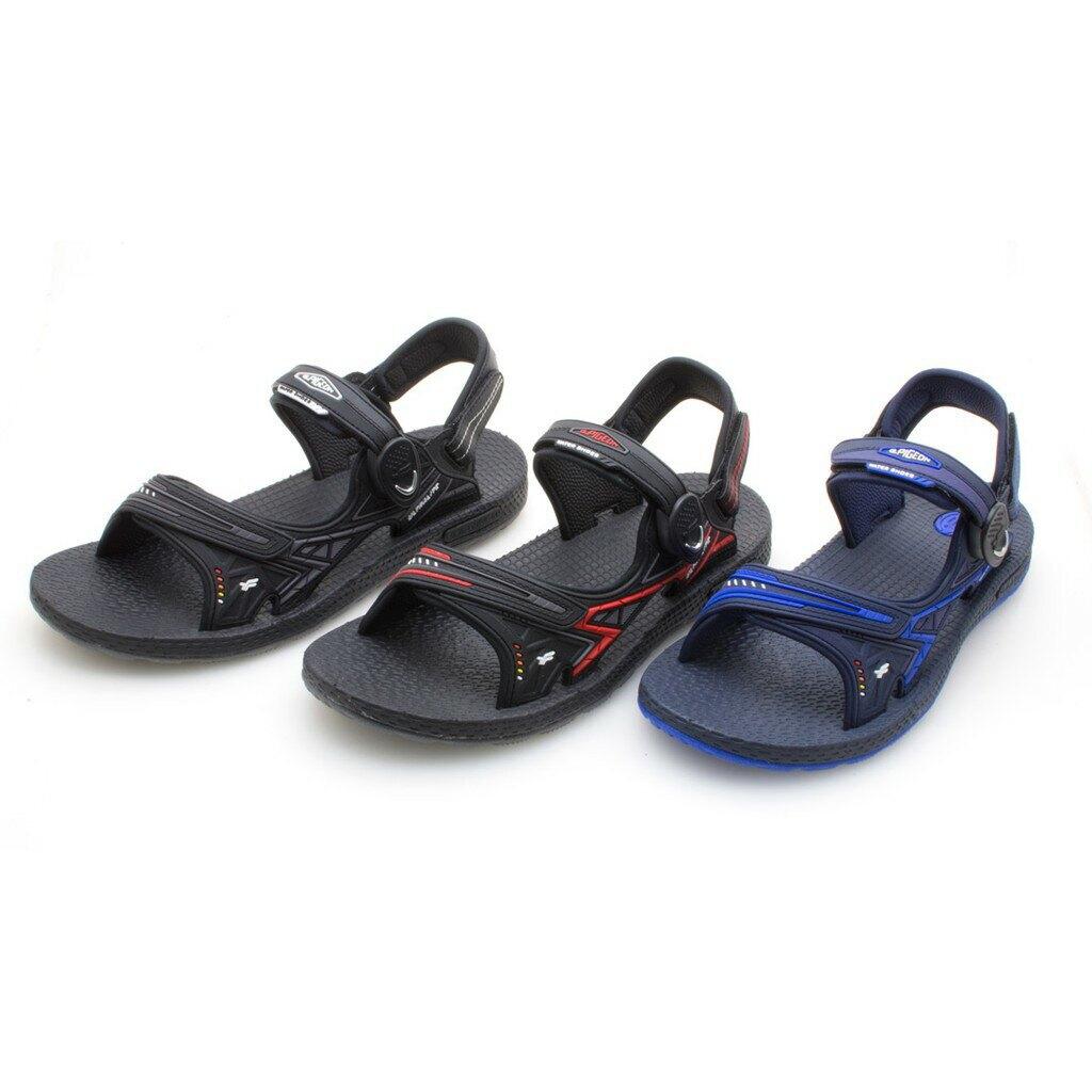 【GP】超羽量無重力磁扣兩用涼拖鞋G0790M-黑色/黑紅色/藍色(SIZE:39-44 共三色) G.P