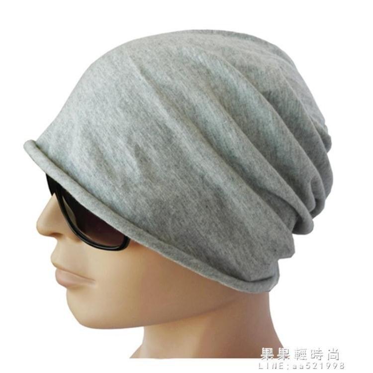 現貨速發-男士帽子純棉睡帽男光頭秋天頭巾透氣套頭包頭帽夏季薄款睡覺單層