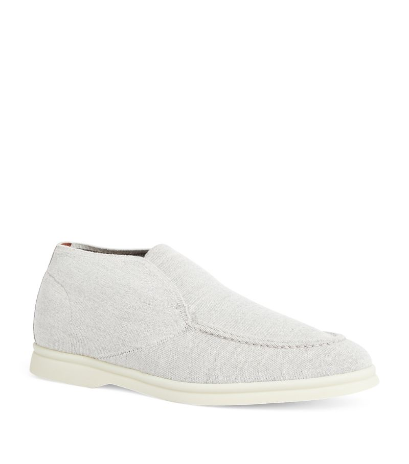 Loro Piana Suede-Panel Open Walk Ankle Boots