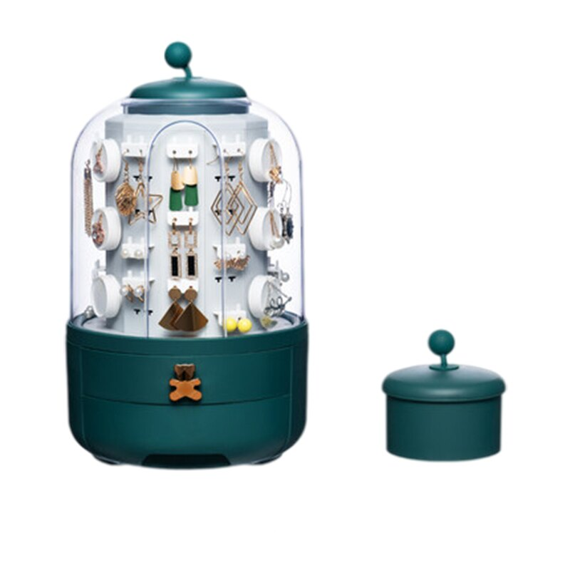 首飾展示旋轉架 首飾盒 家用珠寶耳環展示架 飾品收納盒 展示架 收納架 時光魔盒 珠寶盒