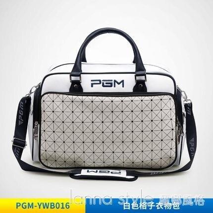 【九折】韓版高爾夫衣物包 女士防水PU球包 大容量 獨立鞋袋
