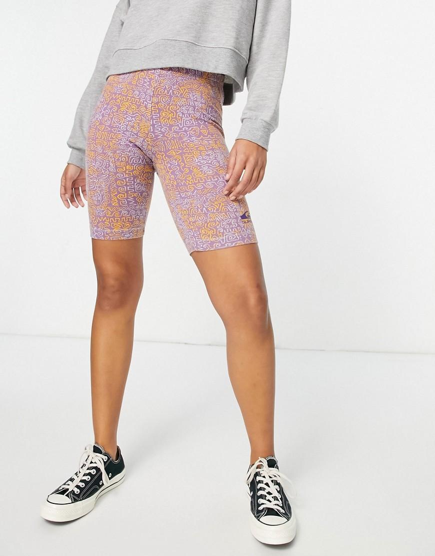 Quiksilver legging shorts in pink multi
