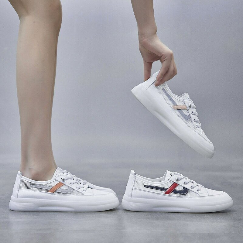 ins網面透氣小白鞋女2021夏季新款韓版平底學生板鞋潮跑步鞋Q333