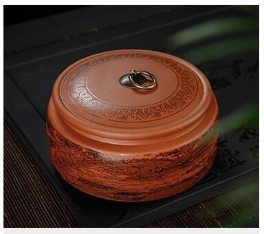 紫砂茶葉罐陶瓷大號醒存茶罐密封罐白茶普洱茶餅罐茶葉包裝盒家用