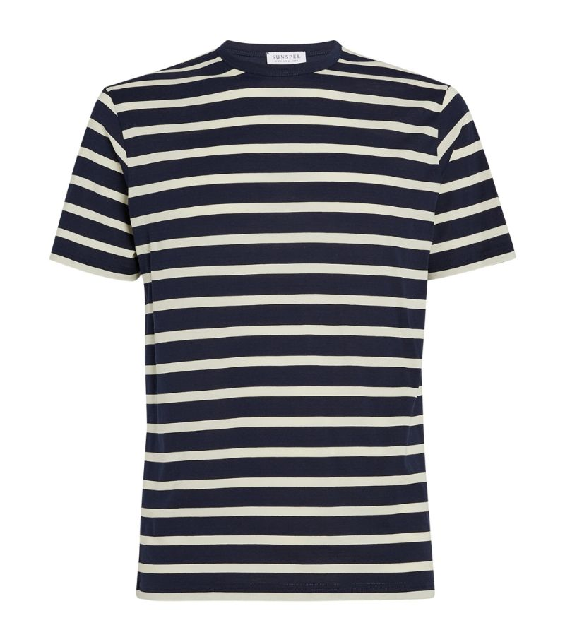 Sunspel Cotton Striped T-Shirt