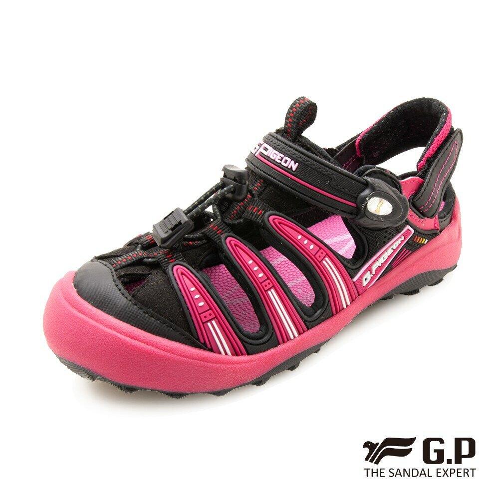 【GP】兒童越野護趾鞋(G9224B)黑桃/藍色 G.P