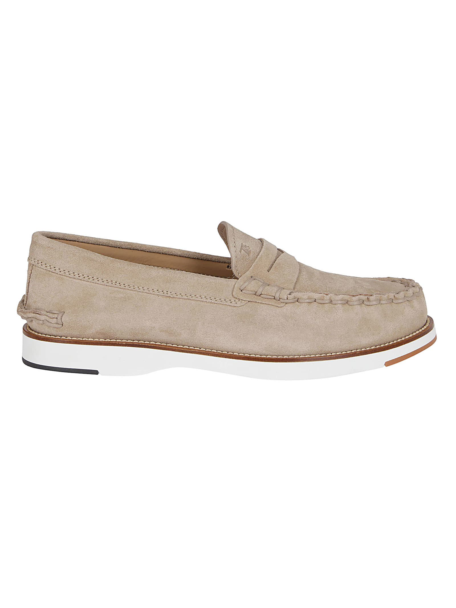 Tods Beige Suede Loafers