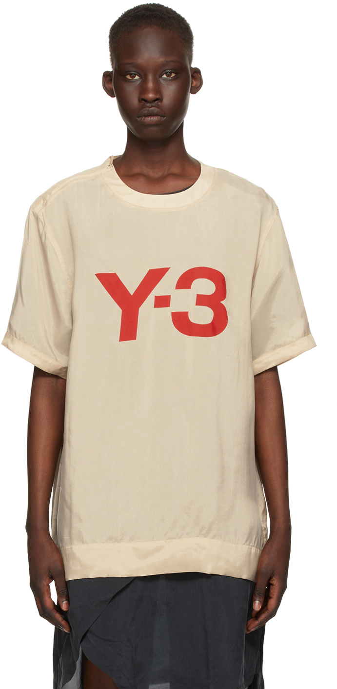 Y-3 驼色 CH3 Sanded T 恤