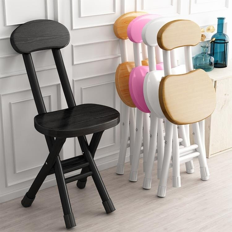 折疊椅 折疊凳子家用餐椅凳子靠背椅培訓椅學生宿舍椅簡約電腦椅折疊圓凳