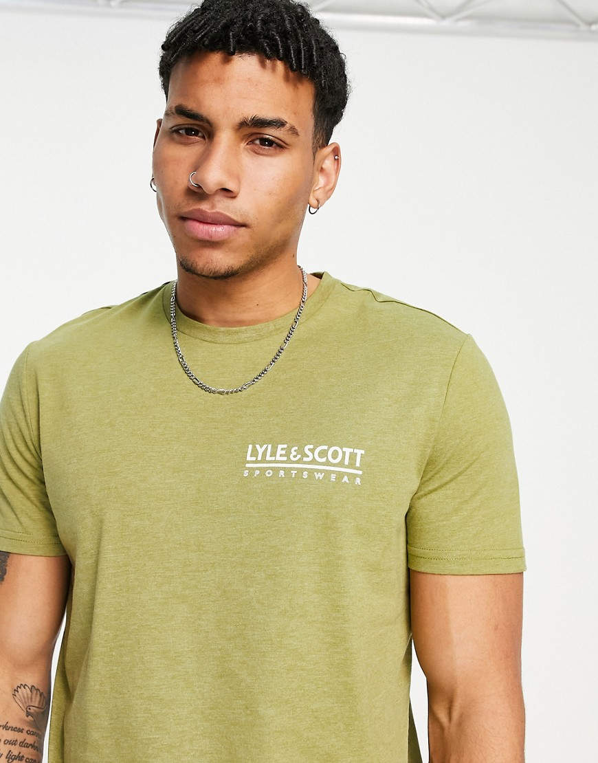 Lyle & Scott Sport pendle small logo t-shirt in green